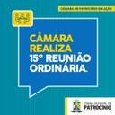 CÂMARA APROVA PROJETOS DURANTE A 15ª REUNIÃO ORDINÁRIA