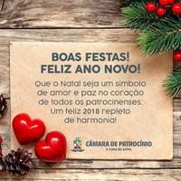 FELIZ NATAL E UM 2018 CHEIO DE REALIZAÇÕES E MUITA PAZ!